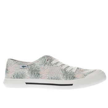Rocket Dog White Jumpin Jungle Palm Womens Flats