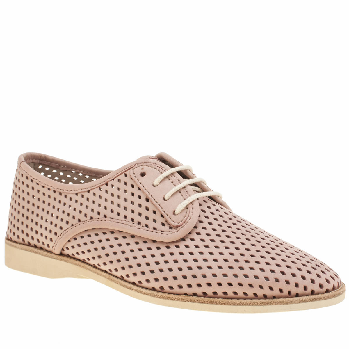 rollie nation Rollie Nation Pale Pink Derby Punch Womens Flats
