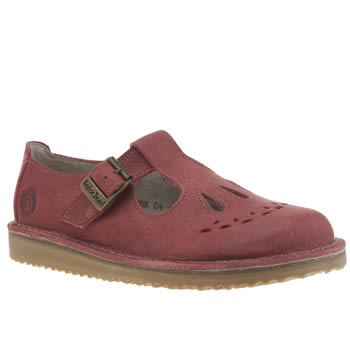 womens red or dead red jade flat shoes