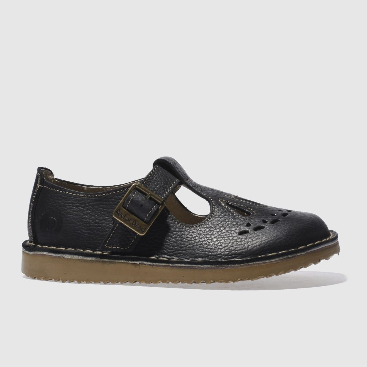 Black sandals littlewoods - Red Or Dead Black Leather Jade Womens Flats
