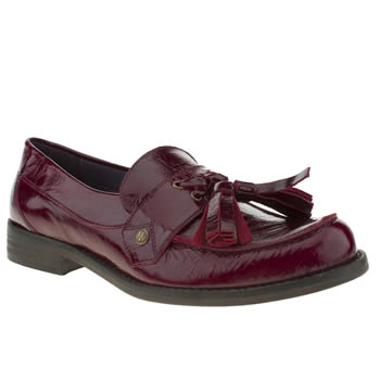 womens red or dead burgundy good life flat shoes