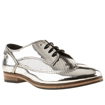 womens red or dead silver bessie flat shoes