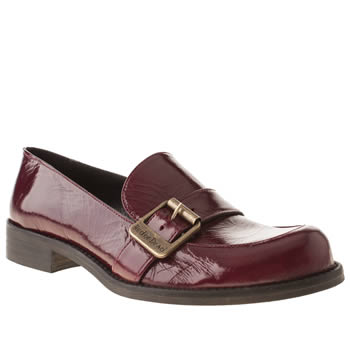 womens red or dead burgundy jolly joan flat shoes