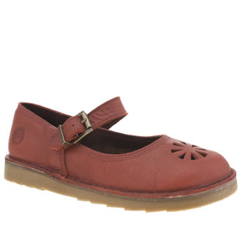 Womens Red Or Dead Red Jemima Flats
