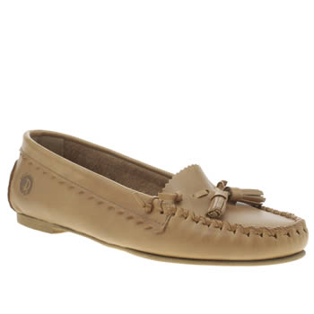 Womens Red Or Dead Tan Barbara Flats