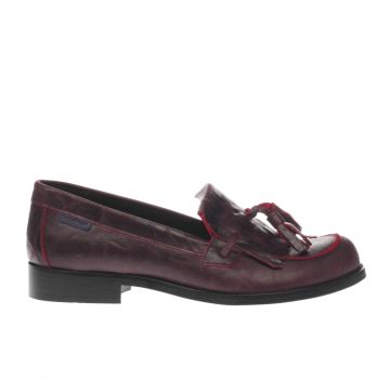 Red Or Dead Burgundy Roxette Flats