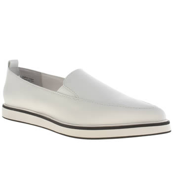 Shellys White & Black Jeune Flats