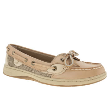 womens sperry tan angelfish flat shoes