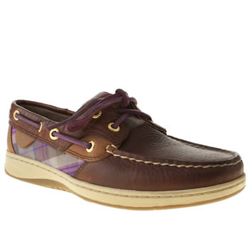 Sperry Brown Bluefish 2 Eye Flats