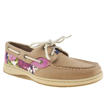 Sperry Tan Bluefish 2 Eye Flats