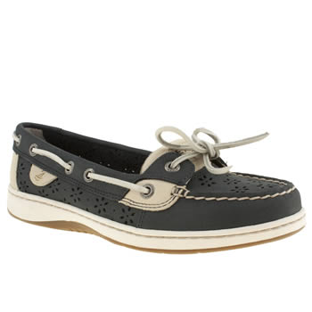 Sperry Navy & White Angelfish Ii Flats