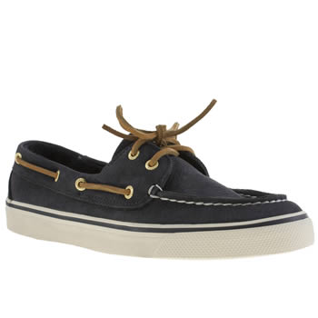 Sperry Navy & White Bahama Flats