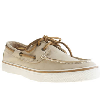 Sperry Beige Bahama Washable Flats