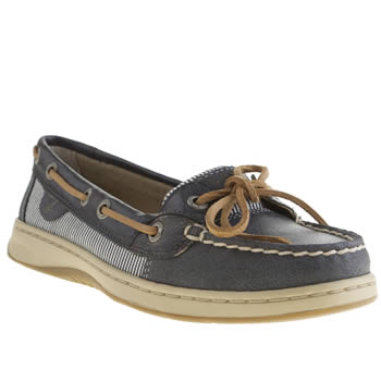 Sperry Navy & Pl Blue Angelfish Flats