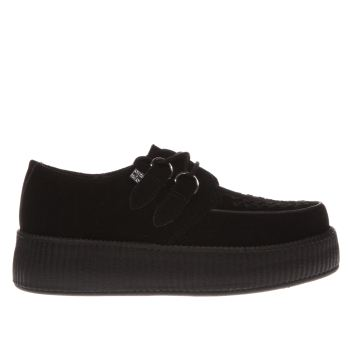 T.U.K Black Viva Mondo Creeper Womens Flats