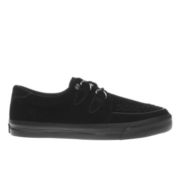 T.U.K Black Vlk Creeper Sneaker Womens Flats