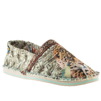 Womens Tigerbear Republik Beige & Brown Hicky Leopard Flats