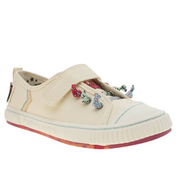 Womens Tigerbear Republik White Tickle Flats