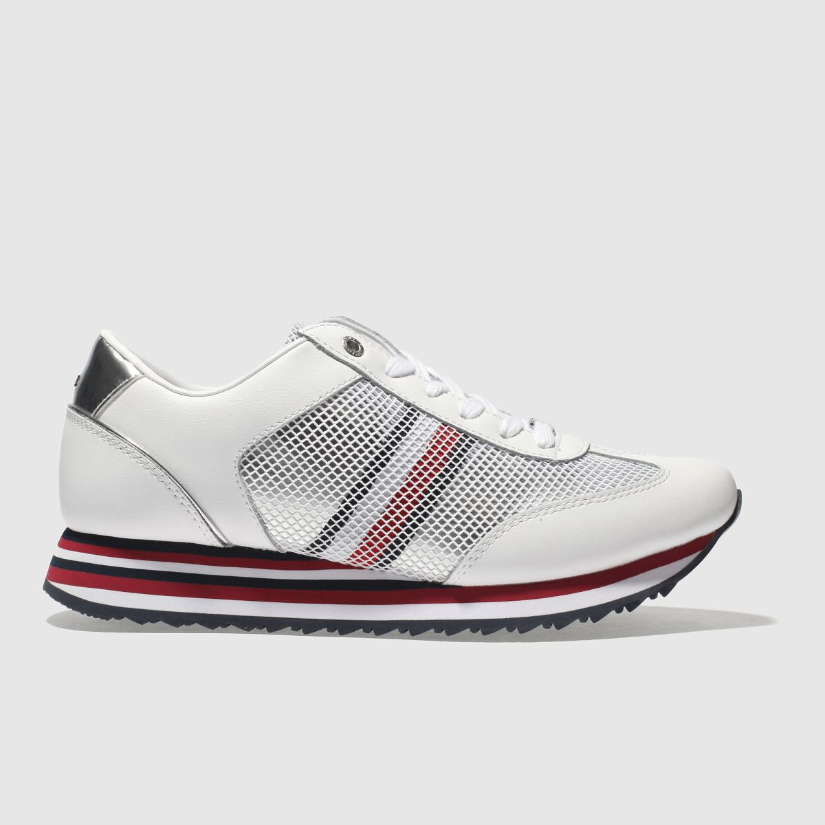 Tommy Hilfiger Tommy Hilfiger White & Navy Corporate Flag Sneaker Trainers