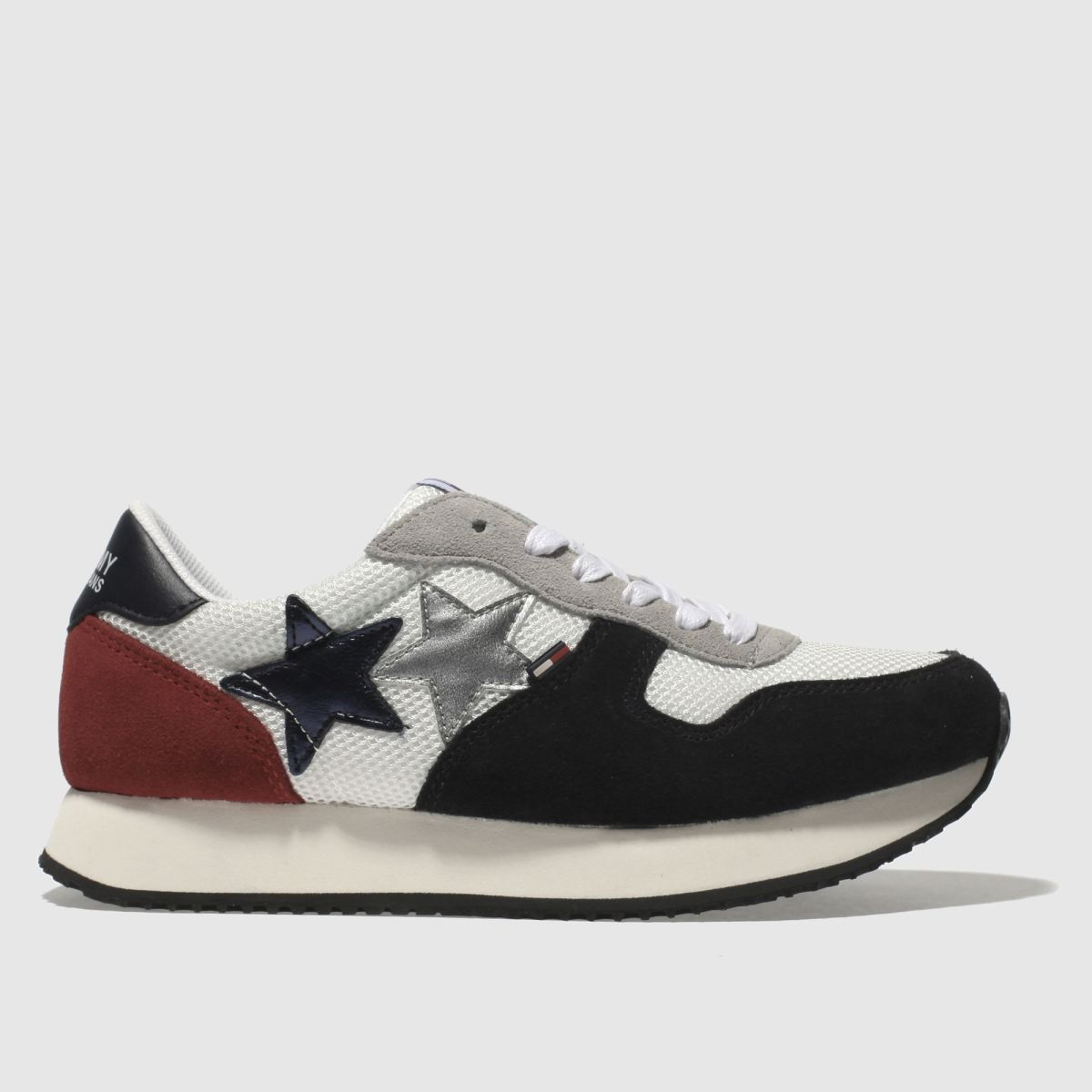 Tommy Hilfiger White & Navy Tj Star Sneaker Trainers