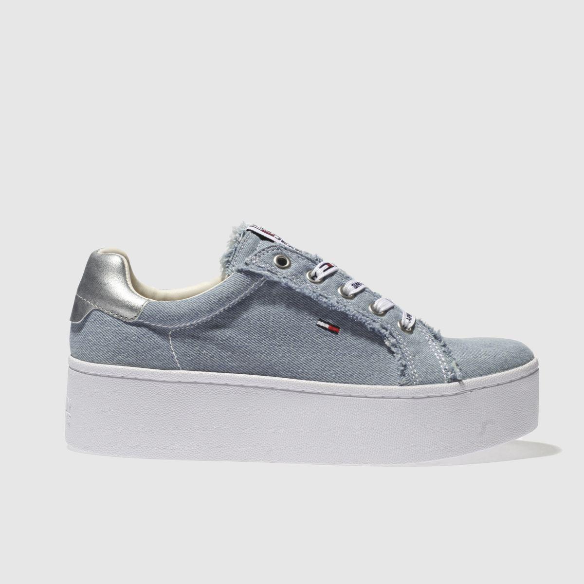 Tommy Hilfiger Tommy Hilfiger Pale Blue Tj Icon Denim Sneaker Trainers