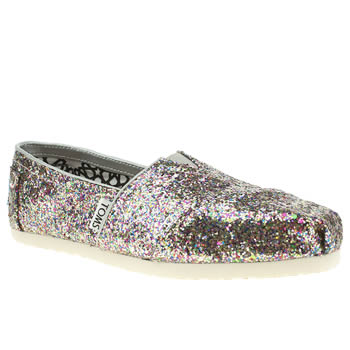 womens toms multi classic ii glitter flat shoes