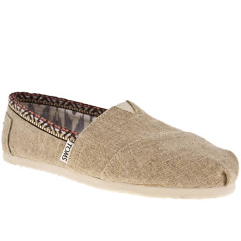 Womens Toms Stone Classic Seasonal Trim Flats