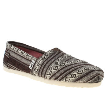 womens toms white & black classic seasonal nepal flat shoes
