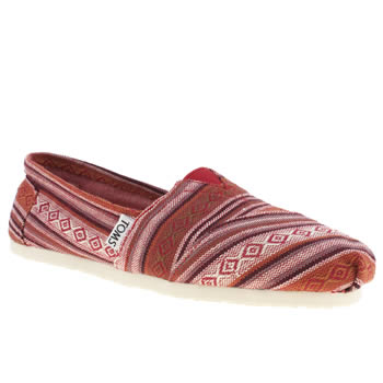womens toms red classic seasonal nepal flat shoes