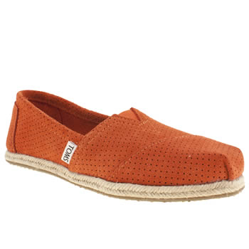 Toms Orange Classic Seas Flats