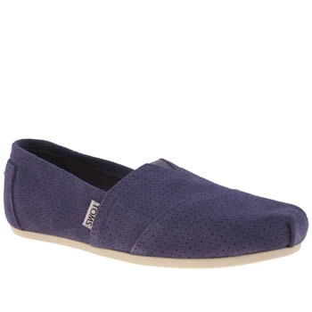 Womens Toms Purple Classic Seasonal Perf Flats