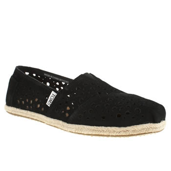 womens toms black classic seas moroccan flat shoes