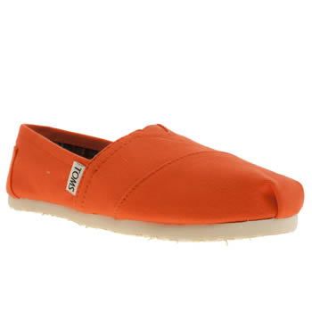Toms Orange Classic Slip Ii Flats