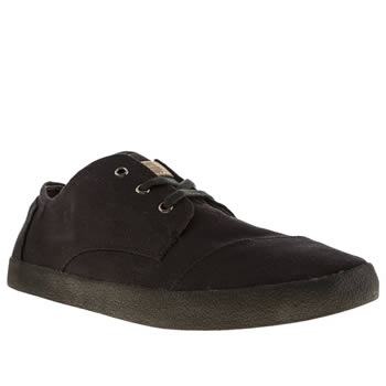 Womens Toms Black Paseos Flats
