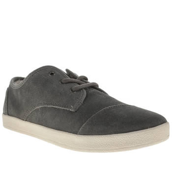 Womens Toms Grey Paseos Fur Flats