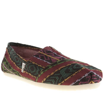 Toms Black & Red Classic Seasonal Guatemalan Flats