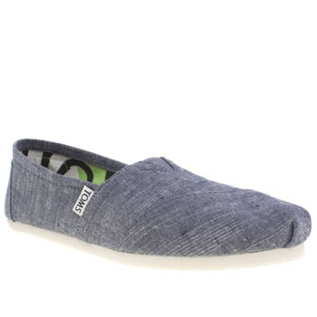 Womens Toms Pale Blue Classic Seasonal Chambray Flats