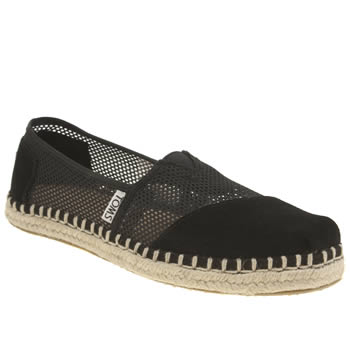 Womens Toms Black Classic Seasonal Mesh Flats