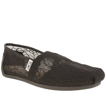 Toms Black Classic Seasonal Lace Flats