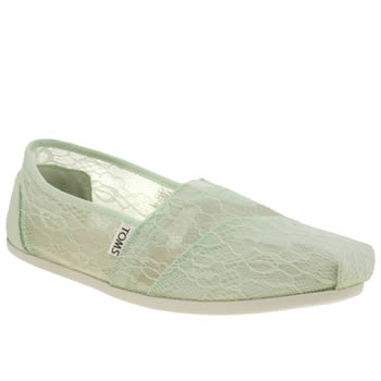 Toms Light Green Classic Seasonal Lace Flats