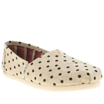 Toms Natural Classic Seasonal Polka Dot Flats