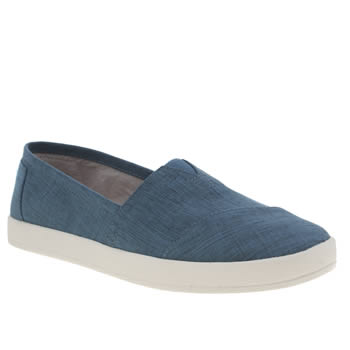 Toms Blue Avalon Nylon Womens Flats