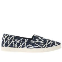 Toms Navy & Stone Avalon Womens Flats