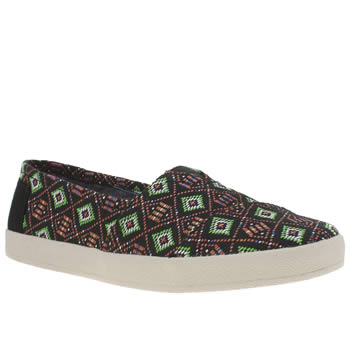 Toms Black & Green Avalon Flats