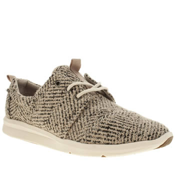 Toms Stone & Black Del Rey Sneaker Trainers