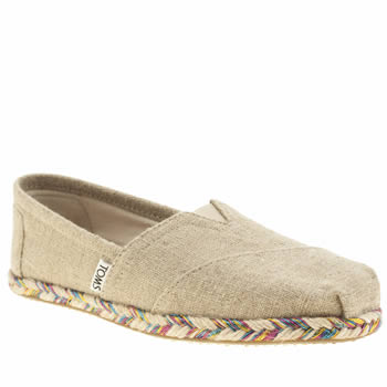 Toms Natural Classic Rope Sole Flats