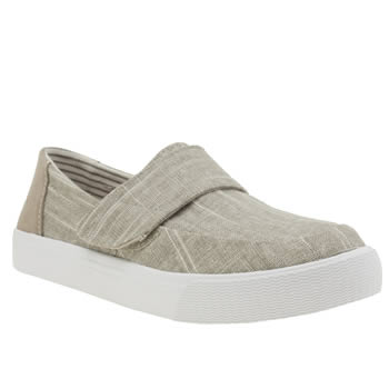 Toms Natural Altair Metallic Linen Womens Flats