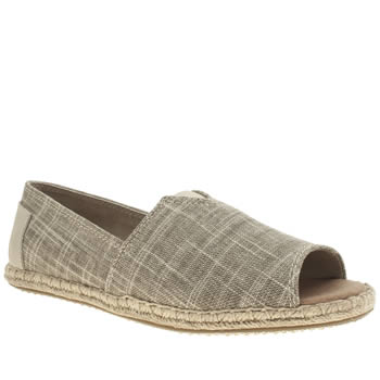 Toms Natural Alpargata Open Toe Flats