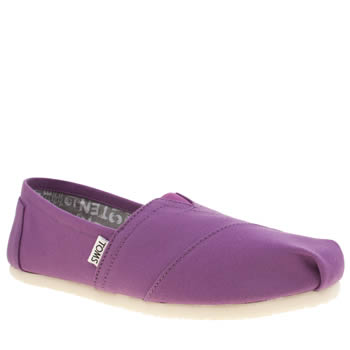 Toms Purple Seasonal Classic Canvas Flats
