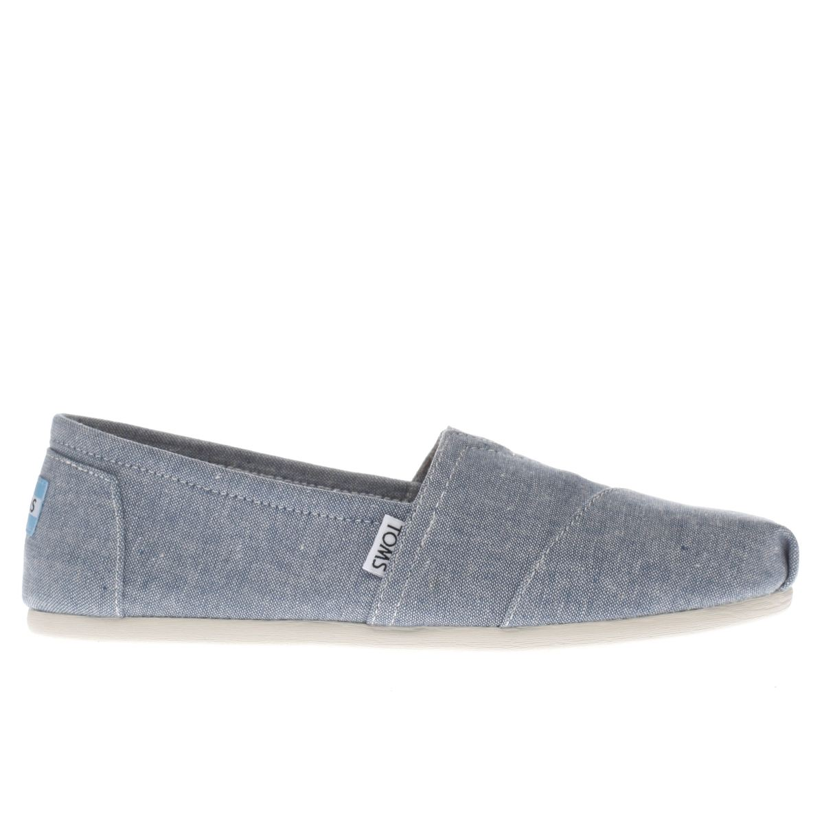 toms blue seasonal classic flat shoes